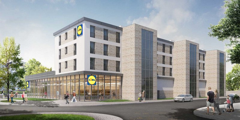 """Lidl"" ""Maxmodul"" ""Mixed-Use-Immobilie"""